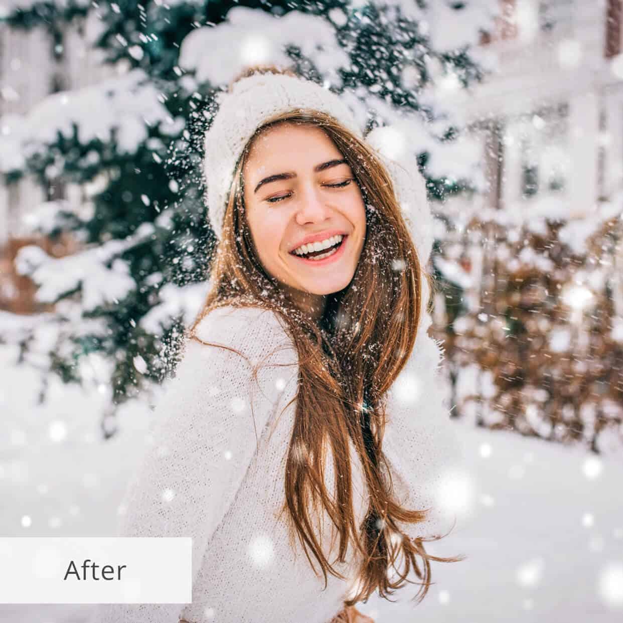 Пресет Snow Wind для lightroom